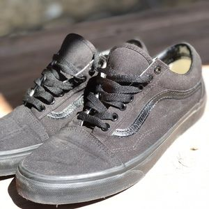 All black old skool vans
